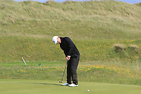 Marc Boucher (Carton House) on the 15th green during Round 4 of The East of Ireland Amateur Open Championship in Co. Louth Golf Club, Baltray on Monday 3rd June 2019.<br /> <br /> Picture:  Thos Caffrey / www.golffile.ie<br /> <br /> All photos usage must carry mandatory copyright credit (© Golffile | Thos Caffrey)