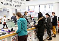 Nederland Amsterdam 2016 04 15. De entree van de Nationale Carrierebeurs voor werkzoekenden in de Rai.  Foto Berlinda van Dam / Hollandse Hoogte