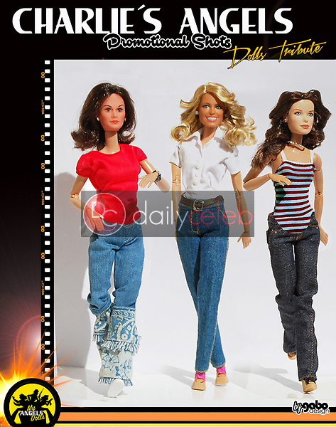 """Kate Jackson doll, Farrah Fawcett doll, Jacklyn Smith doll<br /> Graphic Artist Gabo (@my_angels_dolls) recreates famous photos and scenes from """"Charlie's Angel's"""" using a combination of vintage Charlie's Angels dolls and Barbie Dolls, with custom made clothing by three different fashion designers just for his photo shoots. Two years ago Fernando Miguel, a.k.a. Gabo, started shooting photos of his insanely accurate photo recreations to the delight of social media followers. Using the original vintage """"Charlie's Angel's"""" dolls heads, but fully articulated replacement bodies - and modifying a """"Drew Carey"""" doll to create """"Bosley""""  - Gabo meticulously recreates famous magazine covers, promotional photos and scenes from all seasons of """"Charlie's Angel's."""" and even has created some """"fantasy"""" reunion photos. Gabo's highest praise for his work came when both Jacklyn Smith and Cheryl Ladd """"Liked"""" his photo recreations. His """"Charlie'a Angeles"""" recreations have finally come to an end, and now he recreates scenes from The Bionic Woman and Six Million Dollar Man in other profile in Instagram in the same way.(@my_bionics_toys).  Gabo lives and works in Spain.<br /> DailyCeleb.com 818-249-4998"""