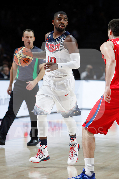 United States´s Irving during FIBA Basketball World Cup Spain 2014 final match between United States and Serbia at `Palacio de los deportes´ stadium in Madrid, Spain. September 14, 2014. (ALTERPHOTOSVictor Blanco)