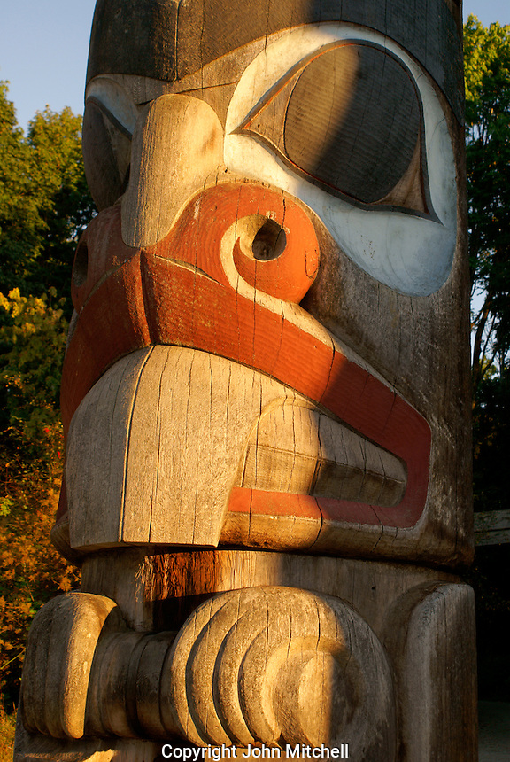 Haida totem pole, Museum of Anthropology (MOA), Vancouver, British Columbia, Canada.