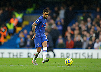 9th November 2019; Stamford Bridge, London, England; English Premier League Football, Chelsea versus Crystal Palace; Emerson Palmieri of Chelsea passes through midfield - Strictly Editorial Use Only. No use with unauthorized audio, video, data, fixture lists, club/league logos or 'live' services. Online in-match use limited to 120 images, no video emulation. No use in betting, games or single club/league/player publications