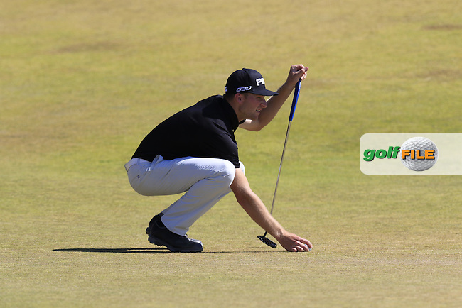 Brian Campbell (AM)(USA) on 9th green during Saturday's Round 3 of the 2015 U.S. Open 115th National Championship held at Chambers Bay, Seattle, Washington, USA. 6/20/2015.<br /> Picture: Golffile | Eoin Clarke<br /> <br /> <br /> <br /> <br /> All photo usage must carry mandatory copyright credit (&copy; Golffile | Eoin Clarke)