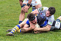 Jackson Campbell scores. Bay Of Plenty v Wanganui. Game of Three Halves pre-season rugby match at Taihape Domain in Taihape, New Zealand on Friday, 27 July 2018. Photo: Dave Lintott / lintottphoto.co.nz