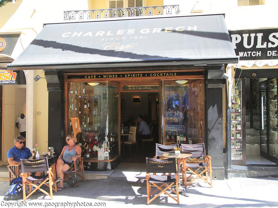 Charles Grech cafe and cocktail bar, Republic Street, Valletta, Malta