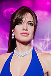 Oct. 4, 2011 - Tokyo, Japan - The wax figure of Angelina Jolie is displayed at the Madame Tussauds museum exhibit. The world's 13th Madame Tussauds museum showcases 19 wax figures of  celebrity musicians and movie stars. (Photo by Christopher Jue/AFLO)