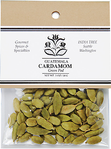 20604 Green Pod Cardamom, Caravan 0.5 oz, India Tree Storefront