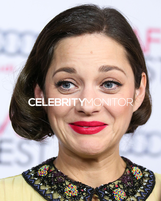 HOLLYWOOD, LOS ANGELES, CA, USA - NOVEMBER 07: Actress Marion Cotillard arrives at the AFI FEST 2014 - 'Two Days, One Night' Special Screening held at the Egyptian Theatre on November 7, 2014 in Hollywood, Los Angeles, California, United States. (Photo by Xavier Collin/Celebrity Monitor)