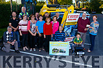 Attending the launching the Ballymac Vintage Rally in O&rsquo;Riada&rsquo;s Bar Ballymac on Monday evening with a cheque presentation from Wharton Tool Hire to Ballymac Vintage Ralley..<br /> Kneeling l-r, Tom Blennerhassett, <br /> Standing l to r: John Reidy, Marion Barnes (Recovery Haven),  Paul Horan, Mary Lynch, Joan Glover, Joan Fleming, Colm Clifford, Noel Keane, James Conway, Maureen O&rsquo;Brien (Recovery Haven), George Glover,<br /> With Chris Robbins (Ballymac Vintage Chairman) receiving the cheque from Trish Wharton and Adrian Wharton on the Mini Land Rover.