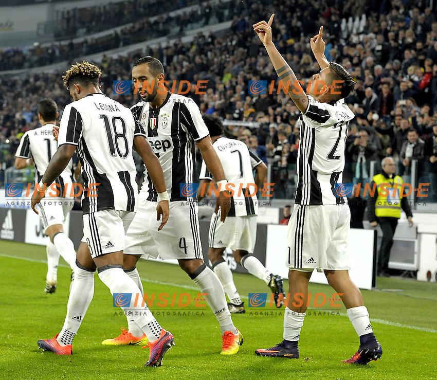 Esultanza Paulo Dybala Juventus dopo gol, goal celebration,<br /> Torino 15-10-2016, Juventus Stadium, Football Calcio 2016/2017 Serie A, Juventus - Udinese, Foto Filippo Alfero/Insidefoto