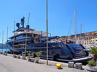 Jacht Oceans-four, Hafen Darsena, Portoferraio, Elba, Region Toskana, Provinz Livorno, Italien, Europa<br /> yacht Oceceans four, Port Darsema, Portoferraio, Elba, Region Tuscany, Province Livorno, Italy, Europe