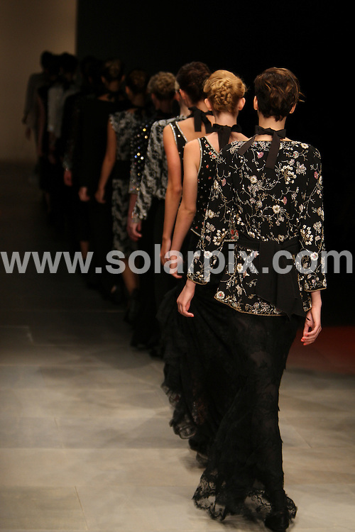 **ALL ROUND PICTURES FROM SOLARPIX.COM**                                             **WORLDWIDE SYNDICATION RIGHTS**                                                                                  London Fashion Week. Caroline Charles Runway SS 2012 at Somerset House in London on 16 September 2011                                                                      <br />