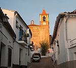 Historic church in village of Castano de Robledo, Sierra de Aracena, Huelva province, Spain