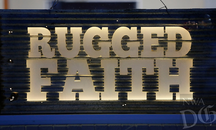 NWA Democrat-Gazette/DAVID GOTTSCHALK  The Rugged Faith Church signage Thursday, October 22, 2015, in Tontitown.