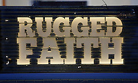 NWA Democrat-Gazette/DAVID GOTTSCHALK  The Rugged Faith Church signage Thursday, October 22, 2015, in Tontitown.