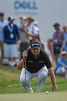 Shane Lowry (IRL) lines up his putt on 15 during day 2 of the WGC Dell Match Play, at the Austin Country Club, Austin, Texas, USA. 3/28/2019.<br /> Picture: Golffile | Ken Murray<br /> <br /> <br /> All photo usage must carry mandatory copyright credit (© Golffile | Ken Murray)