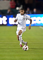 CARSON, CA – JANUARY 22: USA defender Sean Franklin (15) during the international friendly match between USA and Chile at the Home Depot Center, January 22, 2011 in Carson, California. Final score USA 1, Chile 1.