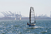 Hydrofoil Sailboat, Long Beach Harbor, California, USA