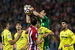 Andres Fernandez of Villarreal during the match of La Liga between Atletico de Madrid and Villarreal at Vicente Calderon  Stadium  in Madrid, Spain. April 25, 2017. (ALTERPHOTOS/Rodrigo Jimenez)