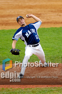 18 May 2006: Jason Weymouth,  a University of Maine Sophomore from Charleston, ME, on the mound against the University of Vermont Catamounts, at Historic Centennial Field, in Burlington, Vermont...Mandatory Photo Credit: Ed Wolfstein Photo..