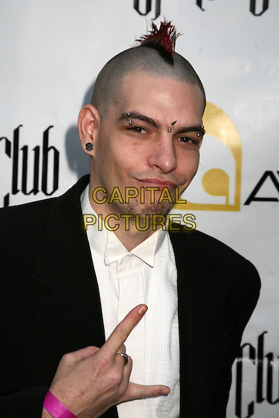 REVEREND MITCZ.1st Annual LARPY Awards at Avalon, Hollywood, California, USA..April 30th, 2006.Photo: Byron Purvis/AdMedia/Capital Pictures.Ref: BP/ADM.headshot portrait hand gesture mohawk piercings.www.capitalpictures.com.sales@capitalpictures.com.© Capital Pictures.