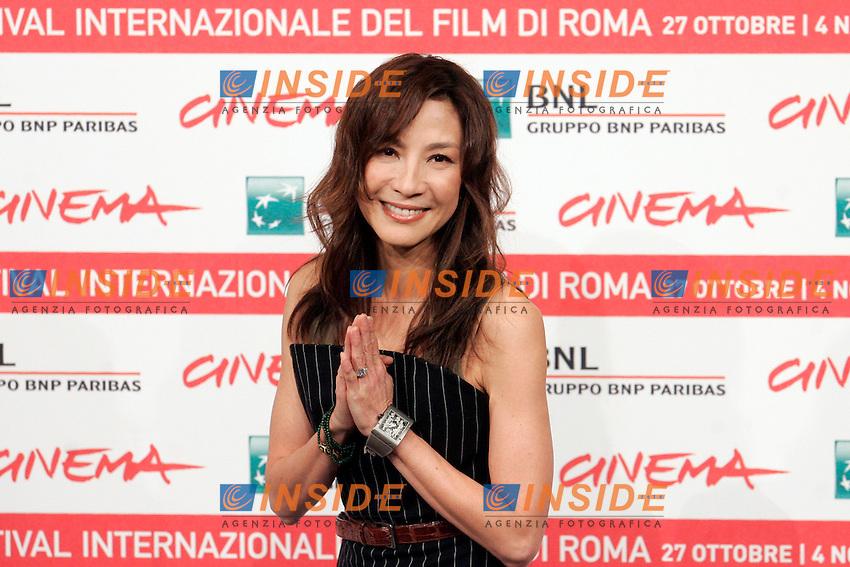 MICHELLE YEOH..Roma 27/10/2011 Festival Internazionale del Film di Roma. International Rome Film Fest. The Lady Photocall...Photo Samantha Zucchi Insidefoto
