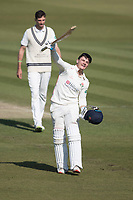 Rob Jones of Lancashire CCC celebrates his century during Middlesex CCC vs Lancashire CCC, Specsavers County Championship Division 2 Cricket at Lord's Cricket Ground on 13th April 2019