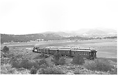 #473 with 5 car eastbound San Juan east of Carbon Junction.<br /> D&amp;RGW  Falfa, CO  Taken by Ward, Bert H. - 7/8/1946