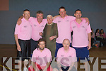 CUP; Seamus Mahony on behalf of his team collected the Johnnie Wall Classic Cup, after they defeated Donie Houlihans Team in the Johnnie Wall Classic Basketball Blitz in Cumann Iosaef, Tralee on Good Friday as a large crowd who attended the blitz looked on..