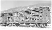 RGS stock car #7456 in Peake yard.<br /> RGS  Peake, CO  Taken by Richardson, Robert W. - 11/20/1951