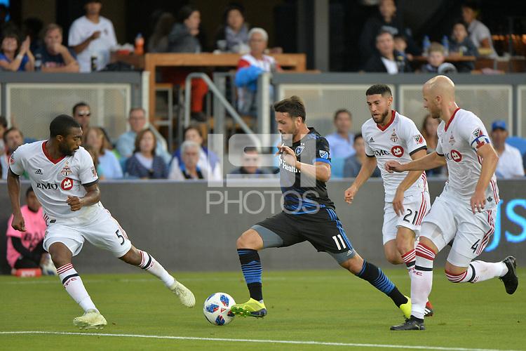 San Jose, CA - Saturday August 18, 2018: Vako during a Major League Soccer (MLS) match between the San Jose Earthquakes and Toronto FC at Avaya Stadium.