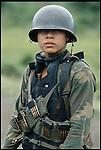 Young conscript, civil war,  Nicaragua, 1978.