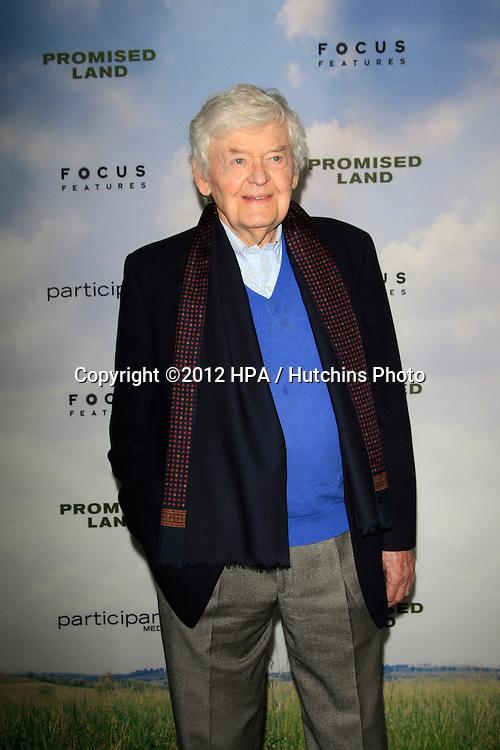 LOS ANGELES - DEC 6:  Hal Holbrook arrives at the 'Promised Land' Premiere at Directors Guild of America on December 6, 2012 in Los Angeles, CA