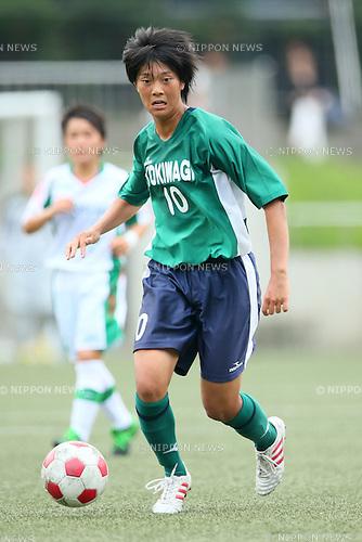 Akari Shiraki (Tokiwagi Gakuen), <br /> AUGUST 3, 2014 - Football / Soccer :<br /> 2014 All-Japan Inter High School Championships, <br /> Women's quarter-final match between Tokiwagi Gakuen 2(3-5)2 Okayama Sakuyo<br /> at Komazawa Olympic Park 2nd Studium, Tokyo, Japan. <br /> (Photo by Yohei Osada/AFLO SPORT) [1156]