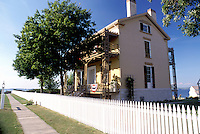 Sacketts Harbor, New York, NY, Commandant's House at Sacketts Harbor Battlefield State Historic Site on Lake Ontario.