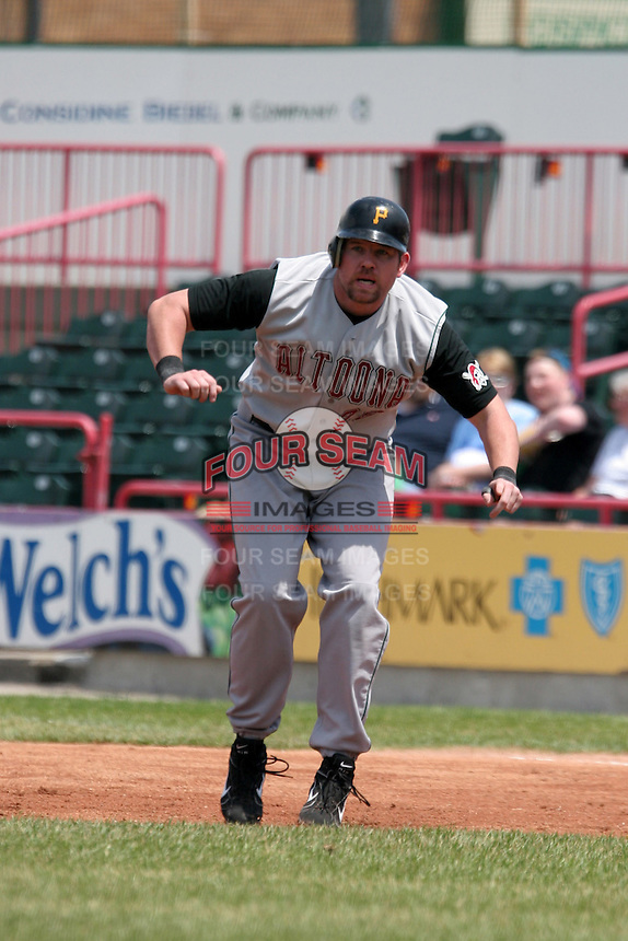 Altoona Curve Sean Casey during an Eastern League game at Jerry Uht Park on May 28, 2006 in Erie, Pennsylvania.  (Mike Janes/Four Seam Images)