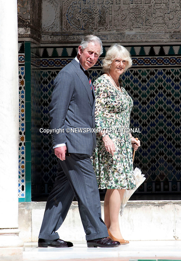 """PRINCE CHARLES and CAMILLA, DUCHESS OF CORNWALL.Visit Sivilla on the final day of their official tour of Spain..The Prince and Duchess made a visit to The President of the Andalucian Regional Government, took a walk through the sunny streets of Savilla whilst stopping off at the Cathedral and the Real Alcazar. Camilla also visited the Flamenco Museum, where see toured the building with Cristina Hoyos and watched a Flamenco demonstration in the company of the Duchess of Alba., Savilla_01/04/2011..Mandatory Credit Photo: ©Dias/NEWSPIX INTERNATIONAL..**ALL FEES PAYABLE TO: """"NEWSPIX INTERNATIONAL""""**..IMMEDIATE CONFIRMATION OF USAGE REQUIRED:.Newspix International, 31 Chinnery Hill, Bishop's Stortford, ENGLAND CM23 3PS.Tel:+441279 324672  ; Fax: +441279656877.Mobile:  07775681153.e-mail: info@newspixinternational.co.uk"""