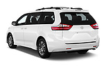 Car pictures of rear three quarter view of a 2018 Toyota Sienna XLE 5 Door Mini Van angular rear