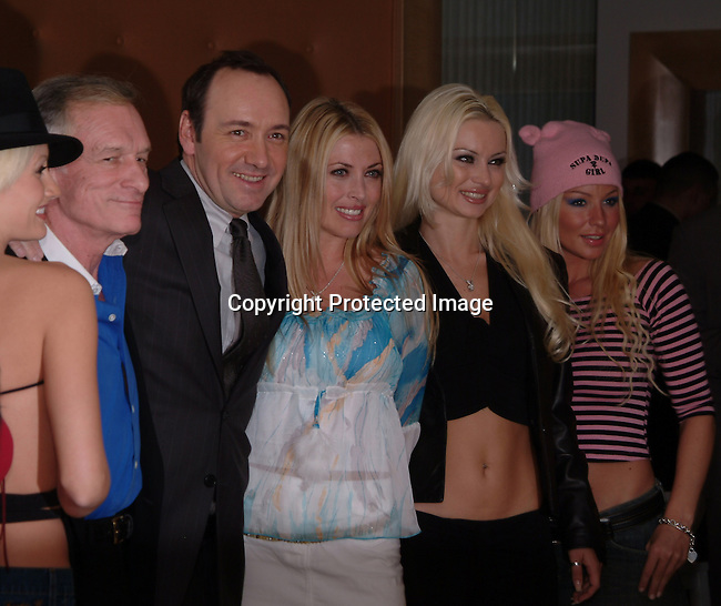 Kevin Spacey, Hugh Hefnerand Playboy Playmates<br />