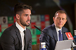 Isco Alarcon during the press conference after the signing of renewal of his contract with Real Madrid until 2022. September 17, 2017. (ALTERPHOTOS/Paola Otero)