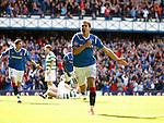 Nikica Jelavic celebrates his goal for Rangers