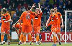 St Johnstone v Dundee Utd....21.04.12   SPL.Scott Robertson celebrates his goal.Picture by Graeme Hart..Copyright Perthshire Picture Agency.Tel: 01738 623350  Mobile: 07990 594431