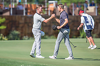 Brandon Stone (RSA) and Niklas Lemke (SWE) during the 3rd round of the Alfred Dunhill Championship, Leopard Creek Golf Club, Malelane, South Africa. 15/12/2018<br /> Picture: Golffile | Tyrone Winfield<br /> <br /> <br /> All photo usage must carry mandatory copyright credit (© Golffile | Tyrone Winfield)