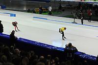 SCHAATSEN: HEERENVEEN: IJsstadion Thialf, 27-12-2015, KPN NK Afstanden, 5000m Heren, Jorrit Bergsma, Sven Kramer, ©foto Martin de Jong
