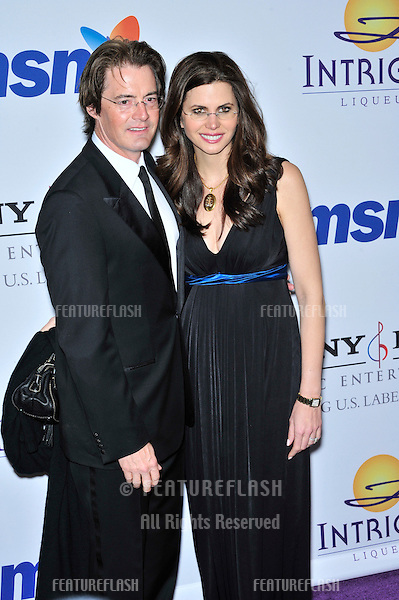 Kyle MacLachlan & Desiree Gruber at music mogul Clive Davis' annual pre-Grammy party at the Beverly Hilton Hotel..February 9, 2008  Los Angeles, CA.Picture: Paul Smith / Featureflash