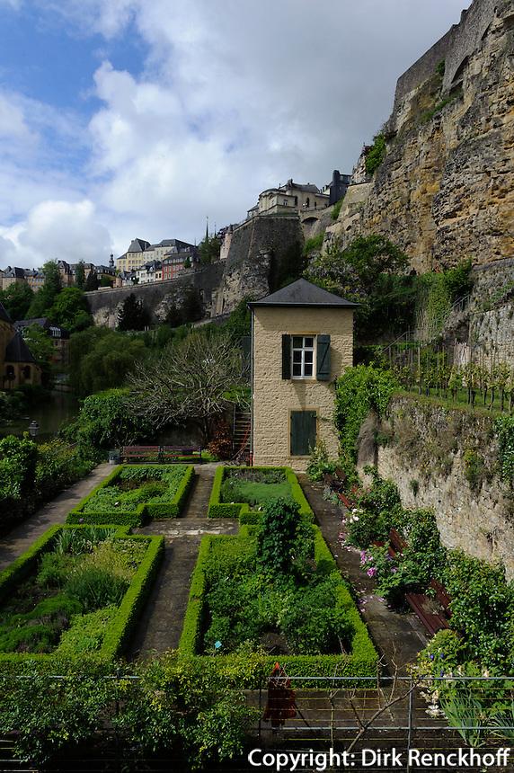 Blick von Grund auf Altstadt, Stadt Luxemburg, Luxemburg, Unesco-Weltkulturerbe