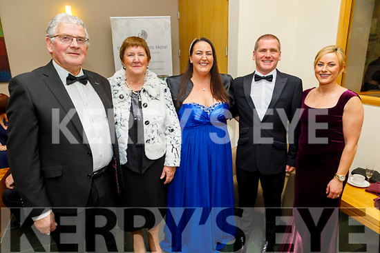 Dermot and Joan Crowley, Cara and Kevin Moriarty and Aoife Crowley attending the Fenit Lifeboats 25th Anniversary Black Tie Charity Ball in Ballyroe Heights Hotel on Saturday.