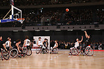 February 2, 2020, Tokyo, Japan - Japanese wheelchair basketball team demonstrate a training session after the opening ceremony for the Ariake Arena in Tokyo on Sunday, February 2, 2020. Ariake Arena, 15,000 seats multiple purpose hall will be used for Olympic volleyball and Paralympic wheelchair basketball events.    (Photo by Yoshio Tsunoda/AFLO)