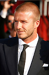 MLS player David Beckham arrives at the 2008 ESPY Awards held at NOKIA Theatre L.A. LIVE on July 16, 2008 in Los Angeles, California.