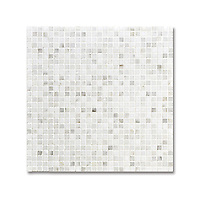 1 cm Grid shown in polished Calacatta Radiance is part of New Ravenna's Studio Line of ready to ship mosaics.